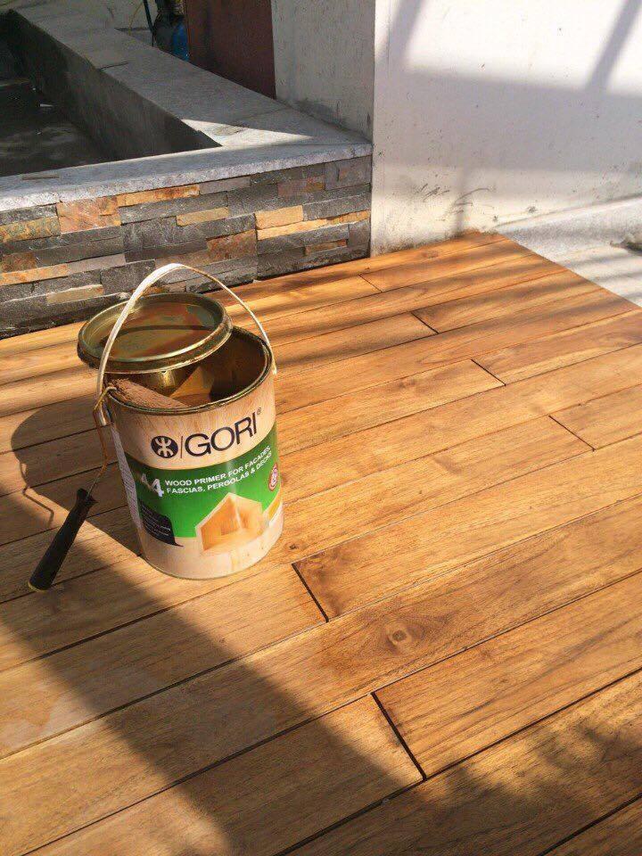Sơn dầu GORI sơn sàn gỗ ngoài trời